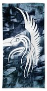 Indigo Bird Flight Contemporary Beach Towel