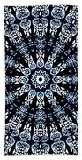 Indigo Flow Blue Kaleidoscope Beach Towel