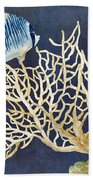Indigo Ocean - Tan Fan Coral N Angelfish Beach Towel