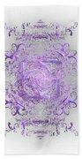 Indulgent Purple Lace Beach Towel