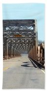 Industrial Bridge Over The Red River Beach Towel