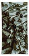 Industrial Letterpress Typeset  Beach Sheet