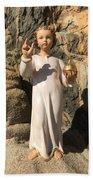 Infant Jesus Of Prague Beach Towel
