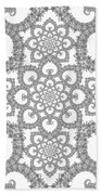 Infinite Lily In Black And White Beach Towel