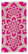 Infinite Lily In Pink Beach Towel