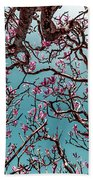 Infrared Frangipani Tree Beach Towel