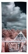 Infrared Glass Pyramids Panorama Beach Towel