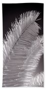 Infrared Palm Frond Beach Towel