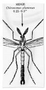 Insect: Midge Beach Towel