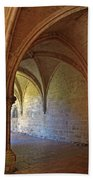 Inside A Monastery Dordogne France  Beach Towel