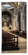 Inside Beautiful Church In Rome Beach Towel