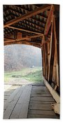 Inside Big Rocky Fork Bridge Beach Towel