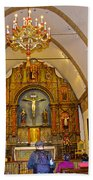 Inside Sanctuary At Carmel Mission-california  Beach Towel