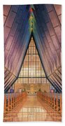 Inside The Cadet Chapel Beach Towel