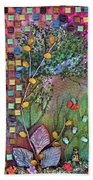 Inside The Garden Wall Beach Towel