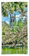 Inspirational - Cherry Blossoms Beach Towel
