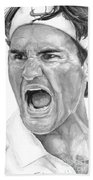 Intensity Federer Beach Towel by Tamir Barkan