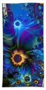 Inter-dimensional Daisies Beach Towel