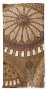 Inter Domes Of Sultan Ahmed Mosque Beach Towel