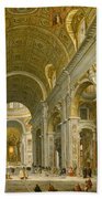 Interior Of St. Peter's - Rome Beach Towel