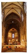 Interior Of Strasbourg Cathedral Beach Towel