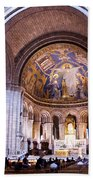 Interior Sacre Coeur Basilica Paris France Beach Towel