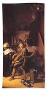 Interior With A Young Violinist 1637 Beach Towel