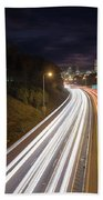 Interstate Freeway Through Portland Oregon Downtown Beach Sheet