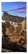 Into Battle - Painting Beach Towel