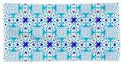 Intricate Geometric Pattern Beach Towel