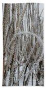 Intriguing Winter Frost Beach Towel