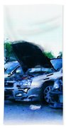 Invasion Of The Import Cars Beach Towel