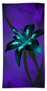 Inverse Lily Beach Towel