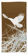 Inverted Crow Beach Towel