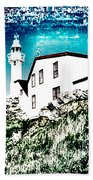 Inverted Lighthouse  Beach Towel