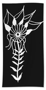 Inverted Small Flower Beach Towel