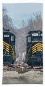 ioneer Lines PREX 912 and 806 at Evansville Indiana Beach Towel