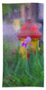 Iris And Fire Plug Beach Towel