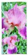 Iris Flower Photograph I Beach Towel