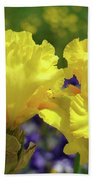 Iris Flowers Garden Art Yellow Irises Baslee Troutman Beach Towel