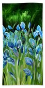 Iris Galore Beach Towel