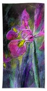 Iris In The Night Beach Towel
