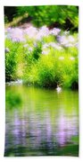 Iris' Reflection Beach Sheet
