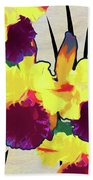 Iris Shadow Beach Towel