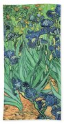 Irises Beach Towel by Vincent Van Gogh