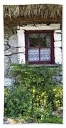 Irish Cottage Window County Clare Ireland Beach Sheet