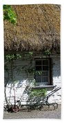 Irish Farm Cottage Window County Cork Ireland Beach Towel
