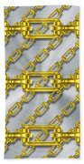 Iron Chains With Brushed Metal Texture Beach Towel