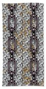 Iron Chains With Metal Panels Seamless Texture Beach Towel