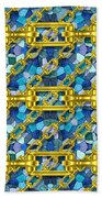 Iron Chains With Mosaic Seamless Texture Beach Towel